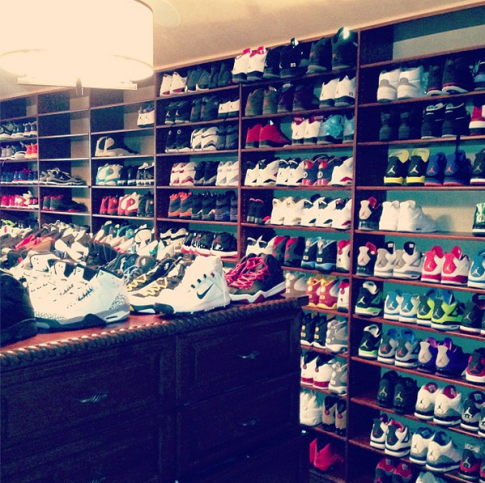 Chris Paul Shoe Closet