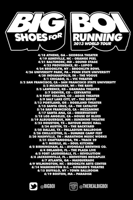 Big Boi | Shoes For Running Tour